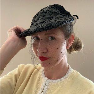 Vintage 1930s Lamson Hubbard Straw Cap with Veil